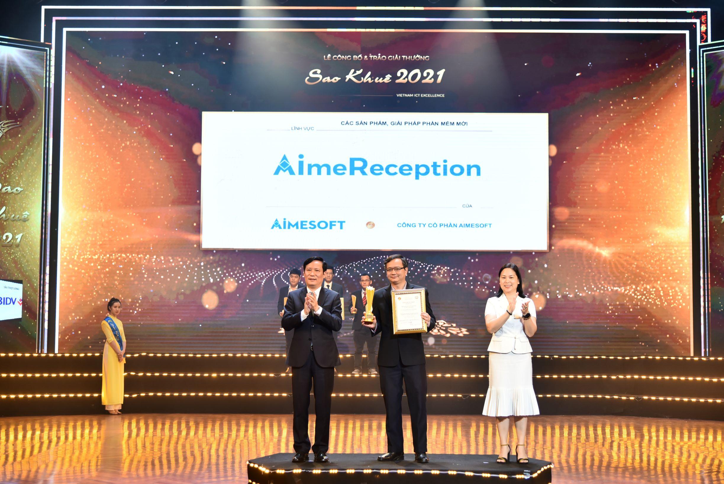 AimeReception đạt giải thưởng Sao Khuê 2021